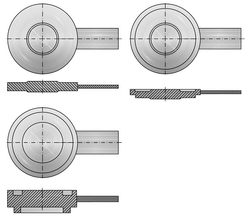 Заглушки поворотные по Т-ММ-25-01-06 (Т-ММ-25-2000-06)